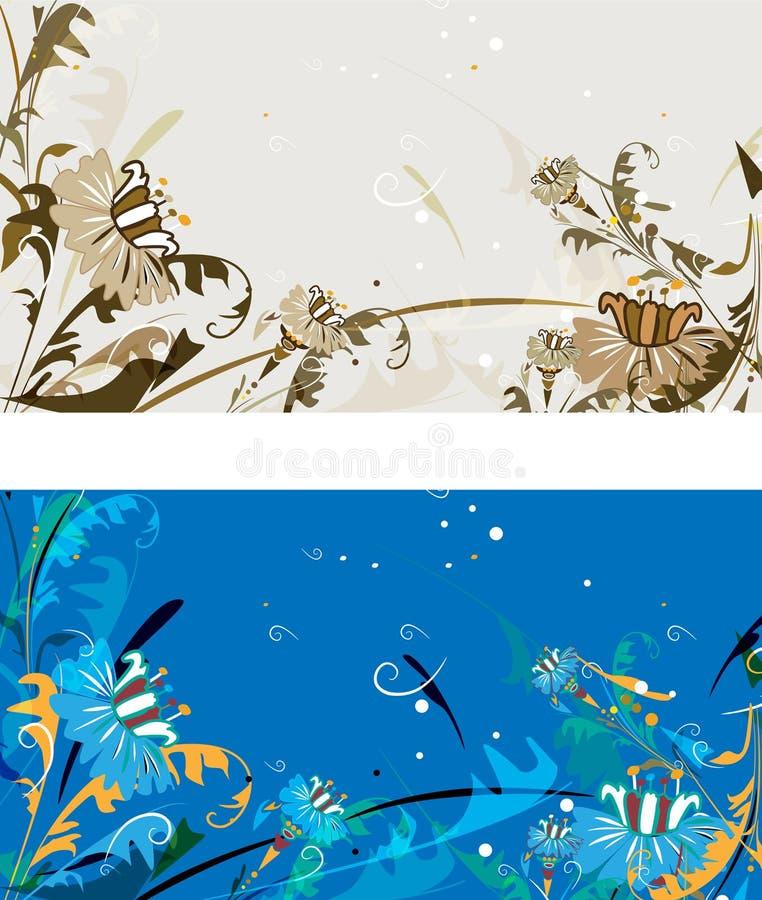 Scheda dei fiori illustrazione vettoriale