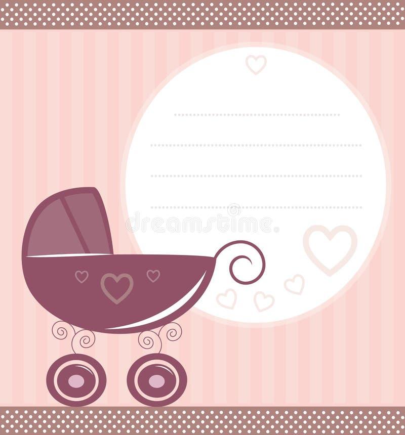 Scheda del bambino dell'annata illustrazione vettoriale