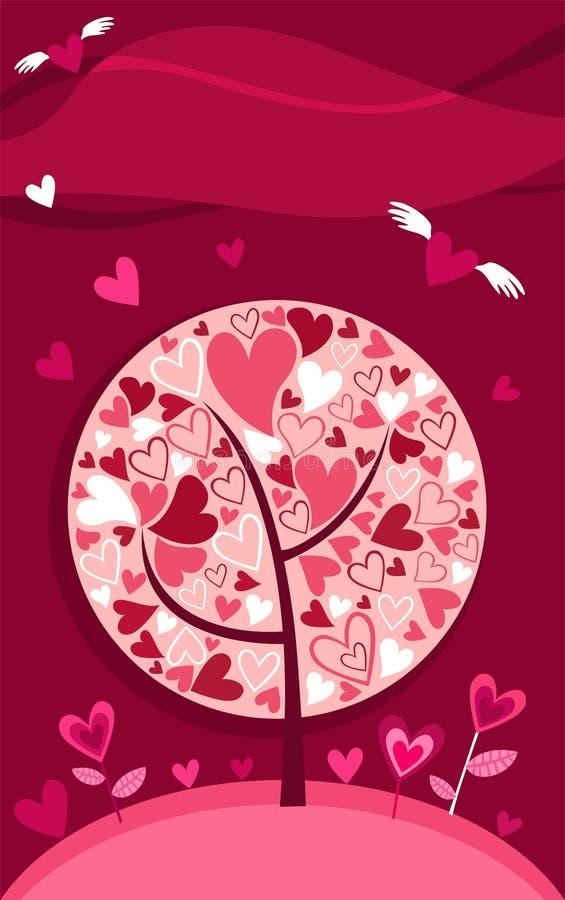 Scheda del biglietto di S. Valentino illustrazione vettoriale