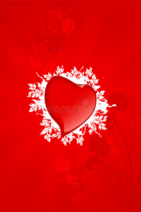Scheda del biglietto di S. Valentino royalty illustrazione gratis