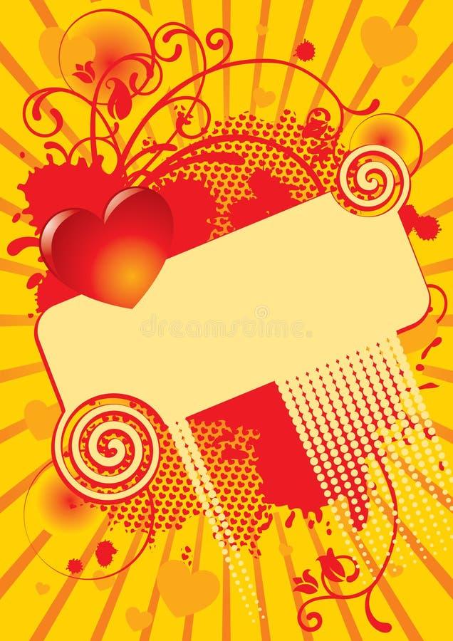 Download Scheda Del Biglietto Di S. Valentino Illustrazione Vettoriale - Illustrazione di cuore, background: 3884226