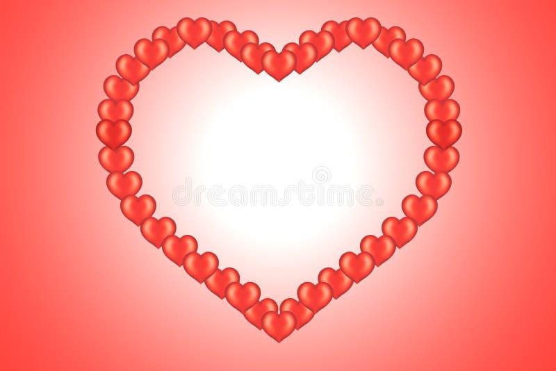 Scheda del biglietto di S. Valentino con cuore illustrazione vettoriale