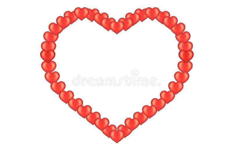 Scheda del biglietto di S. Valentino con cuore illustrazione di stock