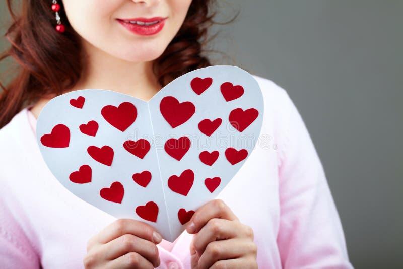 Scheda del biglietto di S. Valentino della lettura immagine stock libera da diritti