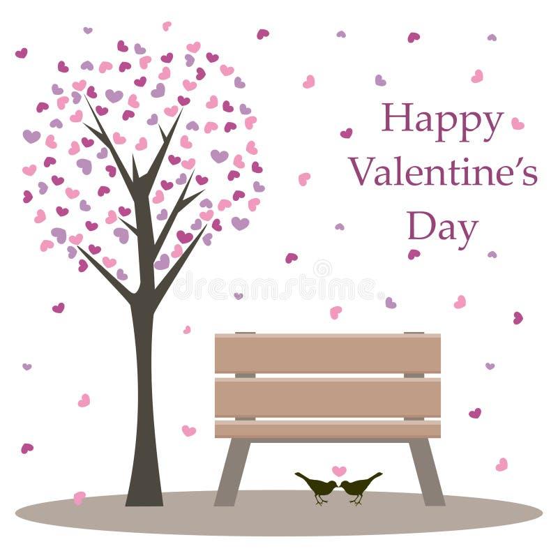 Scheda del biglietto di S. Valentino felice illustrazione vettoriale