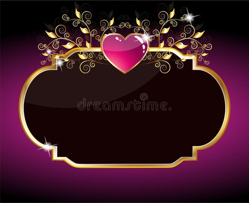 Scheda del cuore viola royalty illustrazione gratis