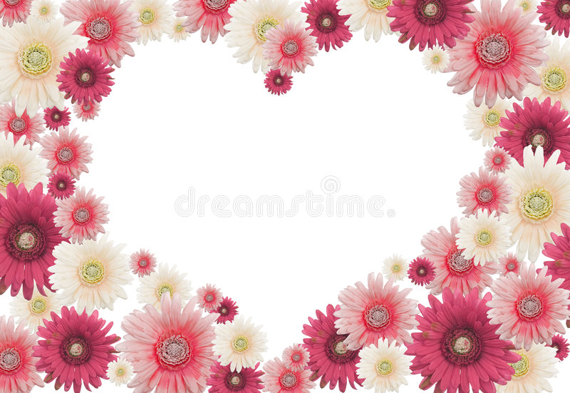 Scheda del fiore del biglietto di S. Valentino illustrazione vettoriale