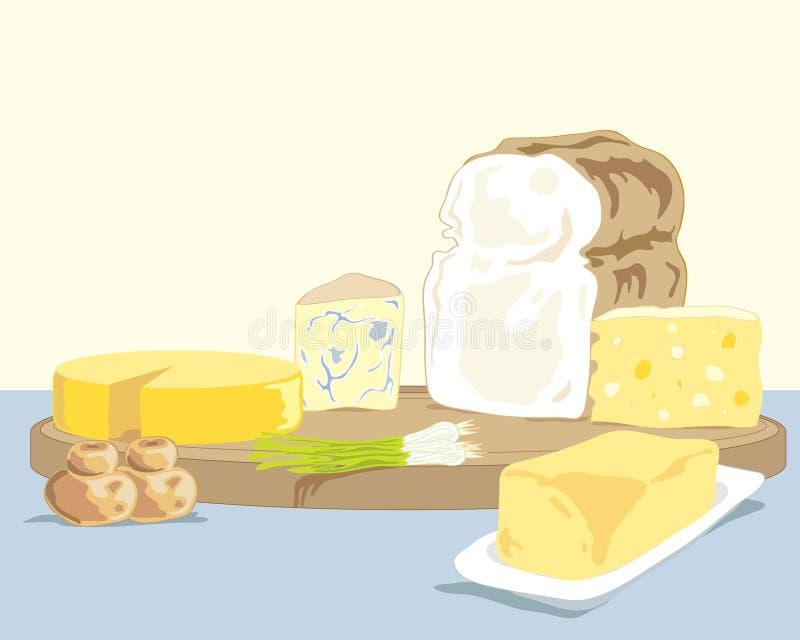 Scheda del formaggio royalty illustrazione gratis