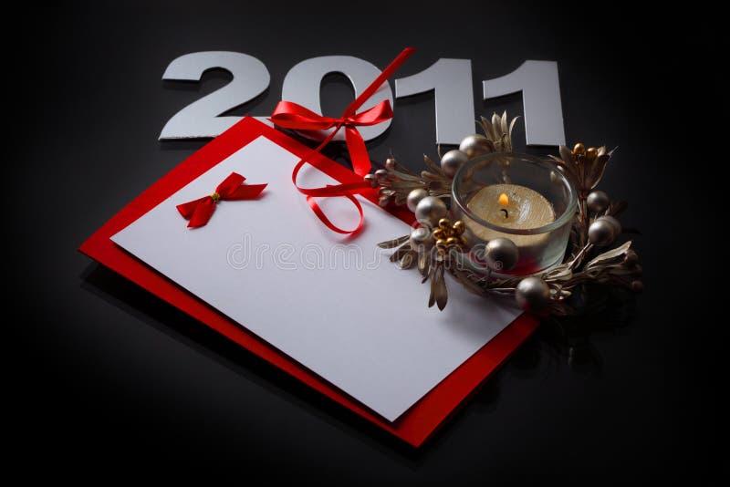 Scheda del nuovo anno immagini stock libere da diritti