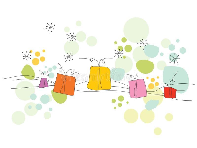 Scheda del nuovo anno fotografie stock