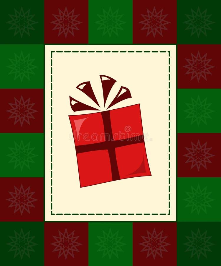 Scheda del regalo illustrazione di stock