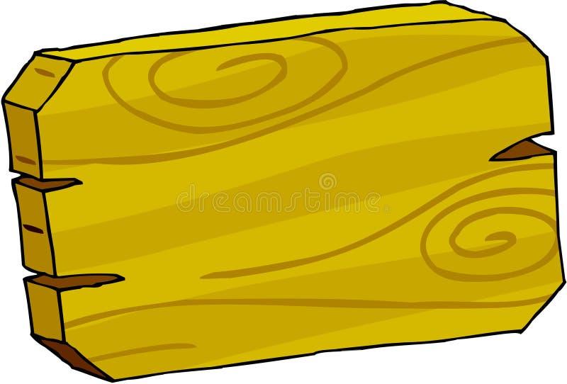 Bordo del segno - legno royalty illustrazione gratis