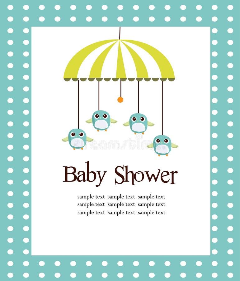Scheda dell'acquazzone di bambino per i ragazzi illustrazione di stock