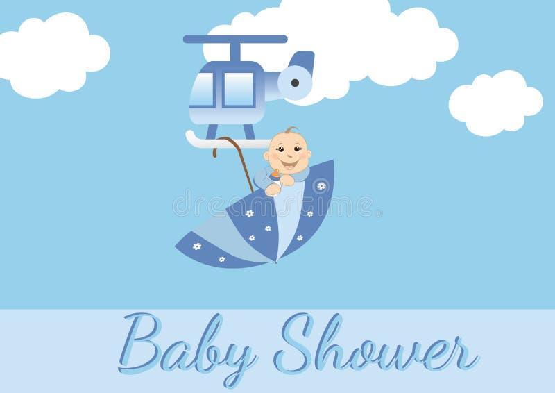 Scheda dell'acquazzone di bambino per i ragazzi royalty illustrazione gratis