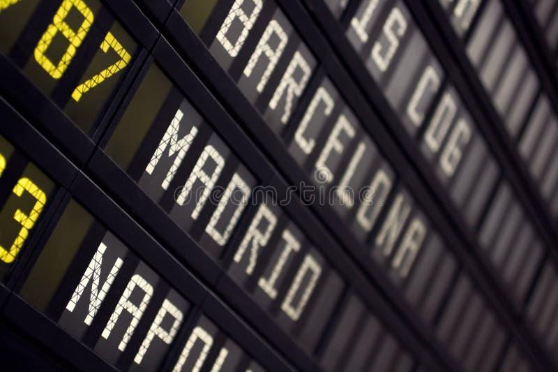 Scheda dell'aeroporto fotografie stock libere da diritti