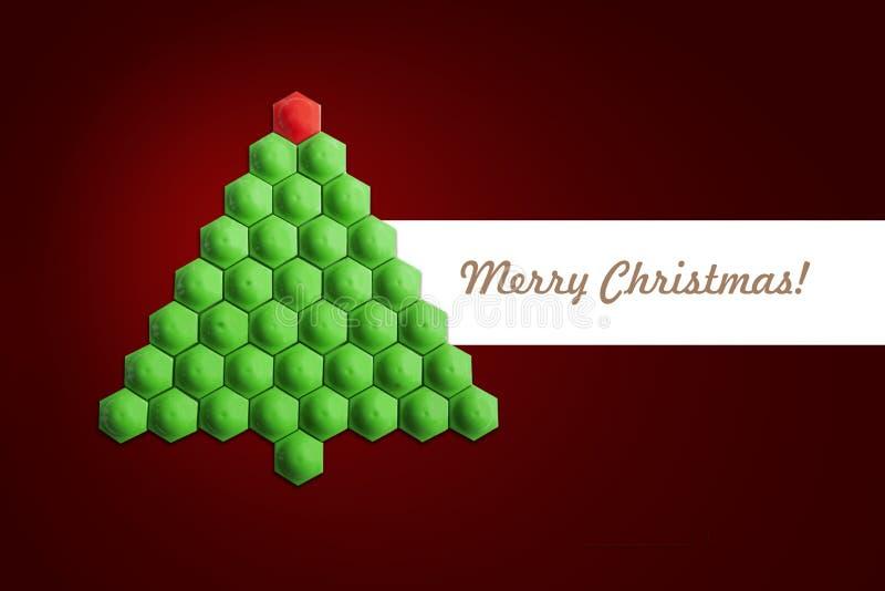 Scheda dell'albero di Natale immagine stock