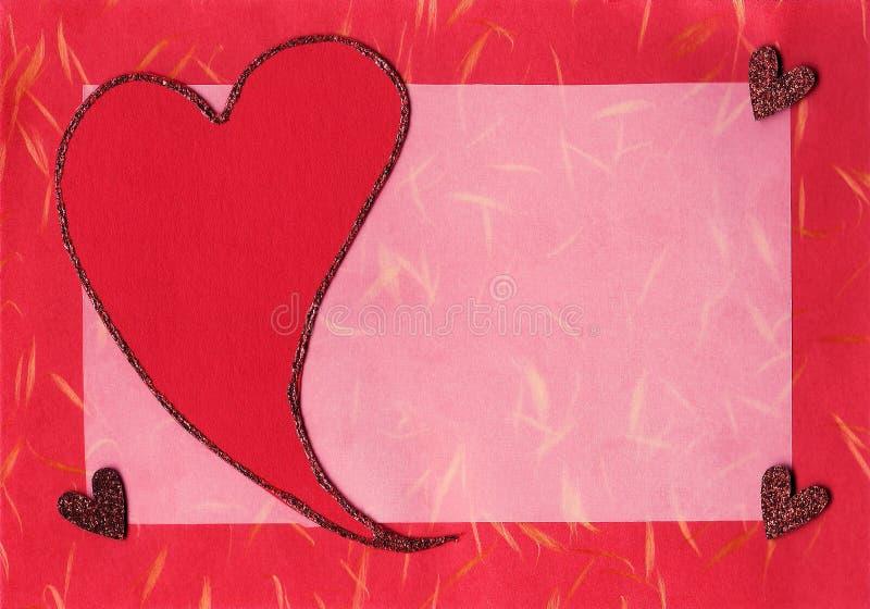 Scheda dell'album del biglietto di S. Valentino immagini stock