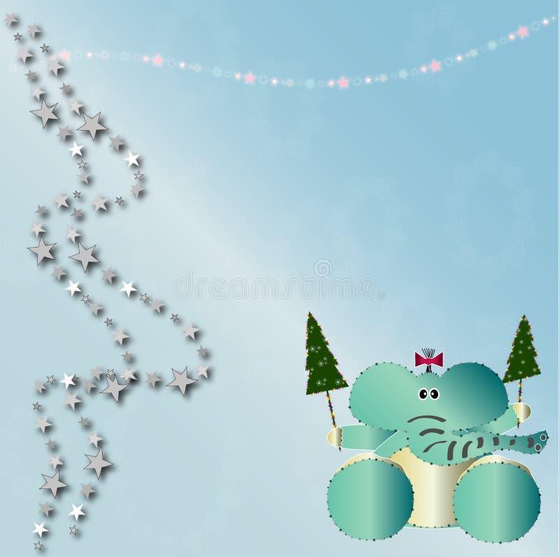 Download Scheda Dell'animale Di Natale Illustrazione di Stock - Illustrazione di felice, orecchi: 7318966