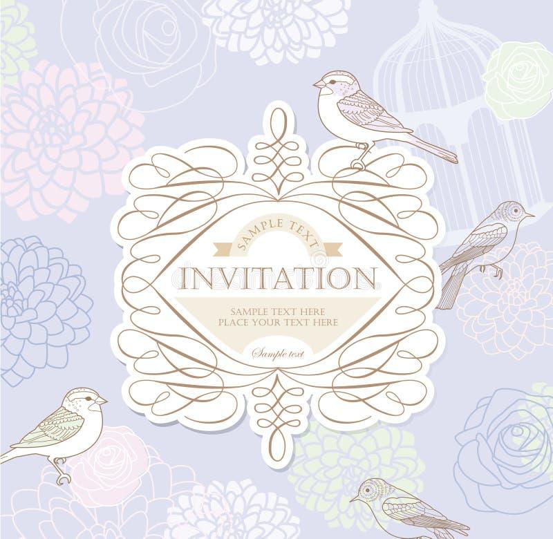 Scheda dell'invito illustrazione di stock