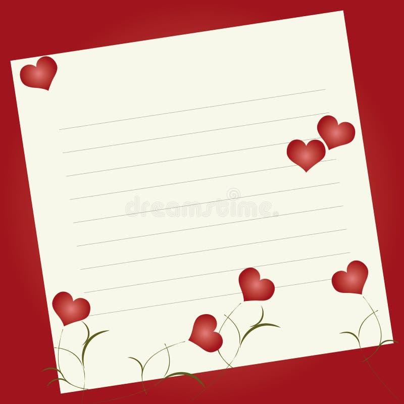 Scheda dell'invito del biglietto di S. Valentino royalty illustrazione gratis