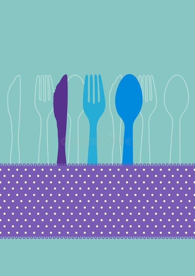 Scheda dell'invito del pranzo royalty illustrazione gratis
