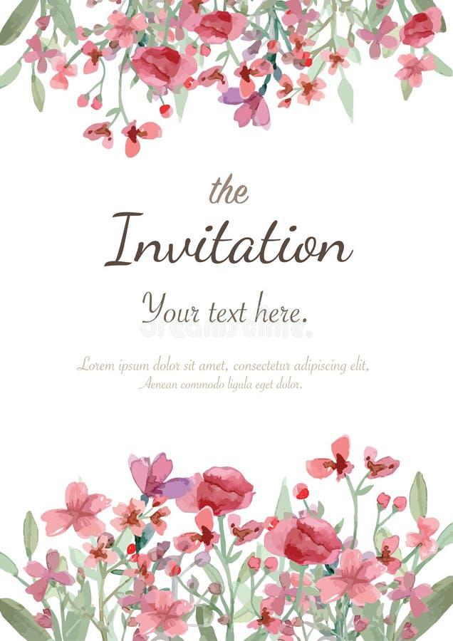 Scheda dell'invito di cerimonia nuziale illustrazione di stock