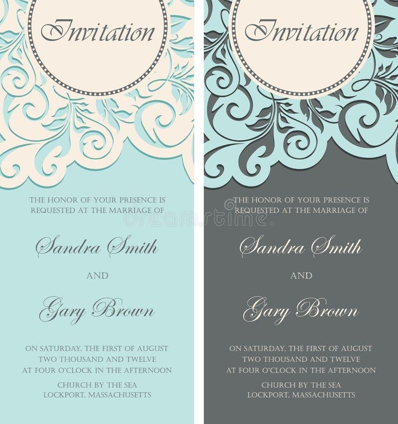 Scheda dell'invito di cerimonia nuziale royalty illustrazione gratis