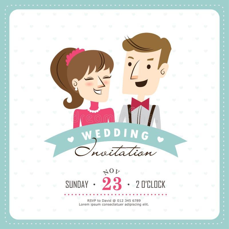 Scheda dell'invito di cerimonia nuziale illustrazione vettoriale