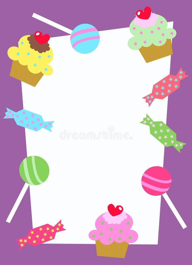 Scheda dell'invito o di celebrazione illustrazione di stock