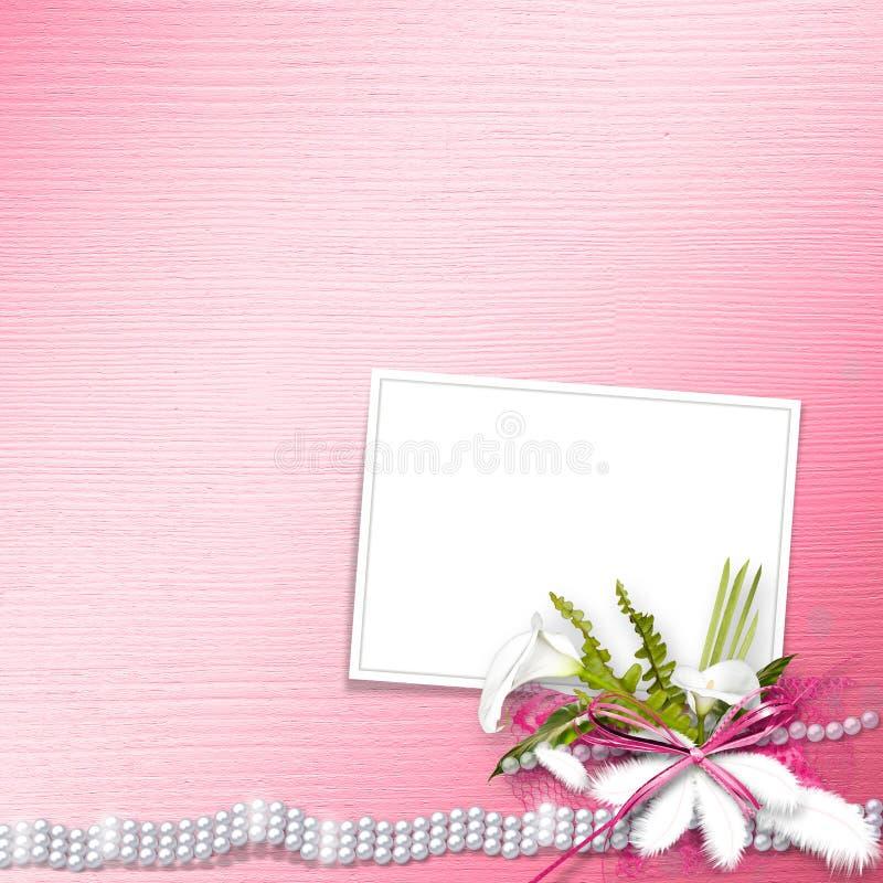 Scheda dell'invito per le nozze immagine stock