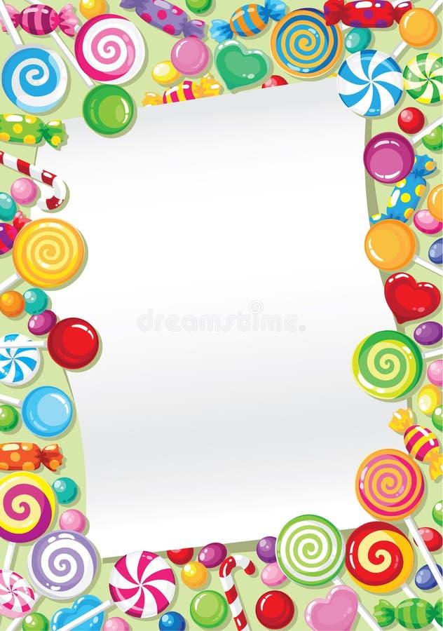 Scheda della caramella illustrazione di stock