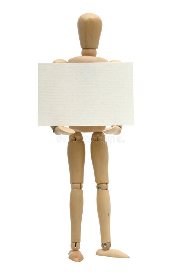 Scheda della holding del Mannequin fotografia stock