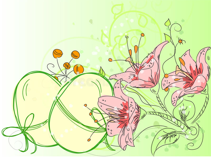 Scheda della priorità bassa di Pasqua royalty illustrazione gratis