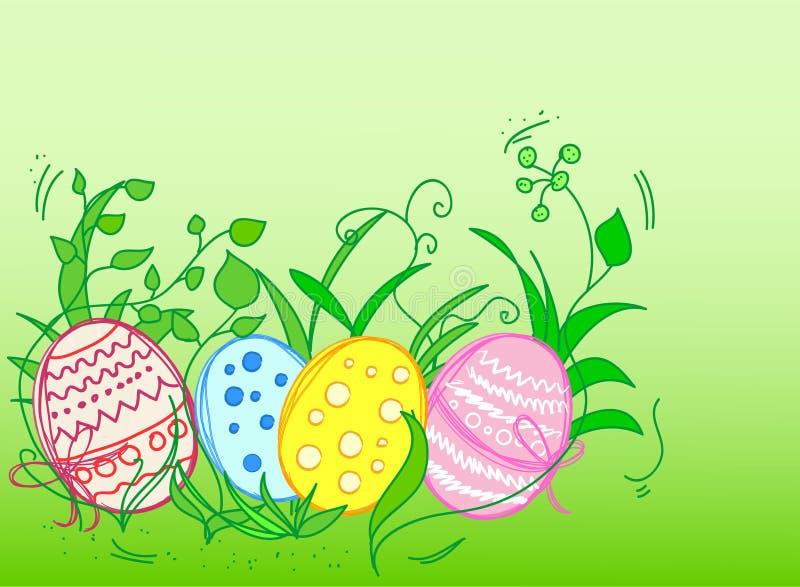 Scheda della priorità bassa di Pasqua illustrazione vettoriale