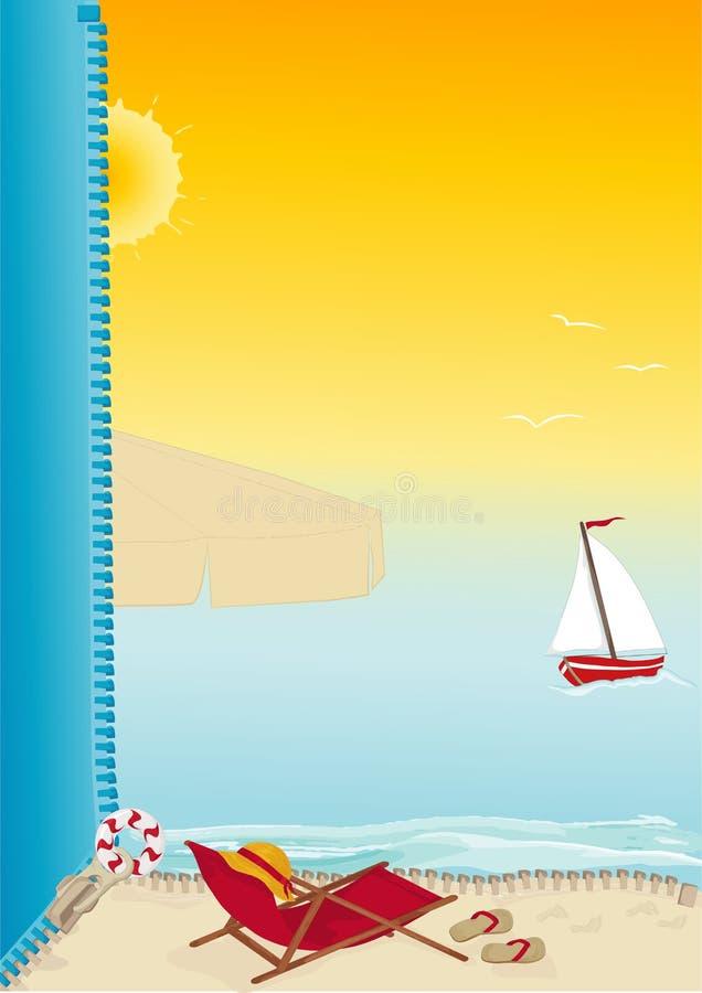 Scheda della spiaggia di estate illustrazione di stock