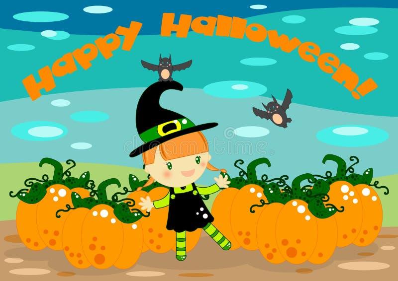 Scheda Della Strega Di Halloween Immagine Stock Libera da Diritti