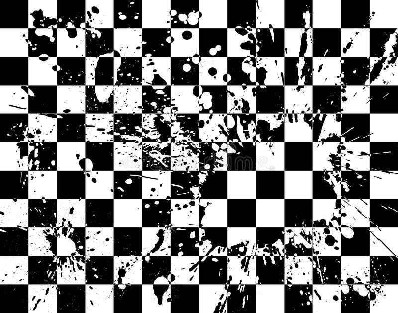 Scheda dello Splatter illustrazione vettoriale