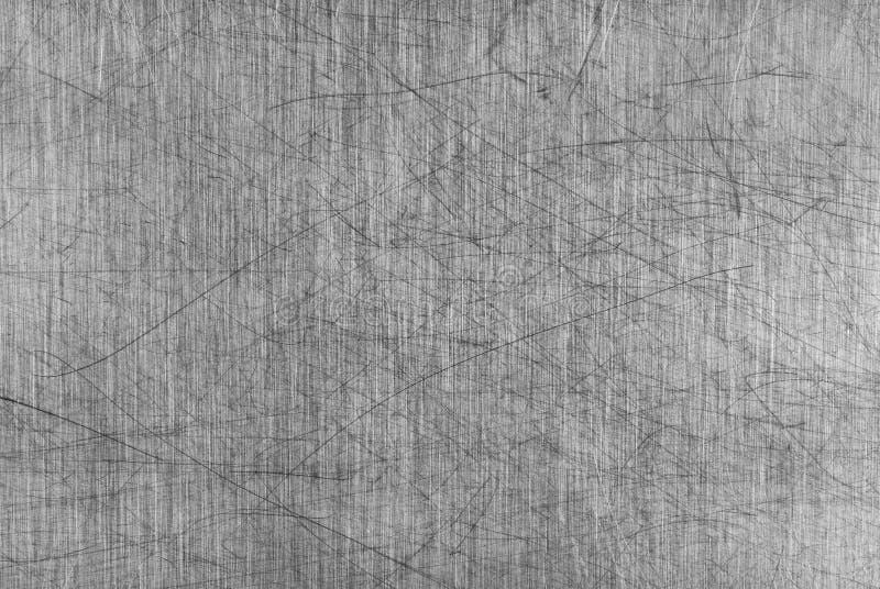 Scheda di alluminio graffiata grigia della Tabella fotografie stock libere da diritti