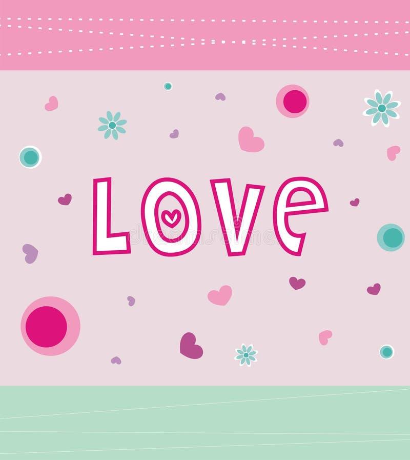Scheda di amore illustrazione vettoriale