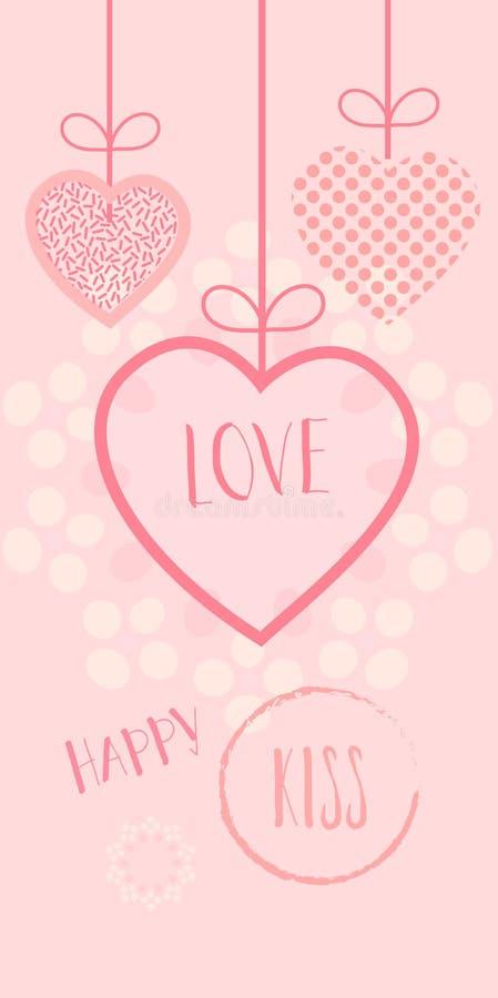 Scheda di amore illustrazione di stock