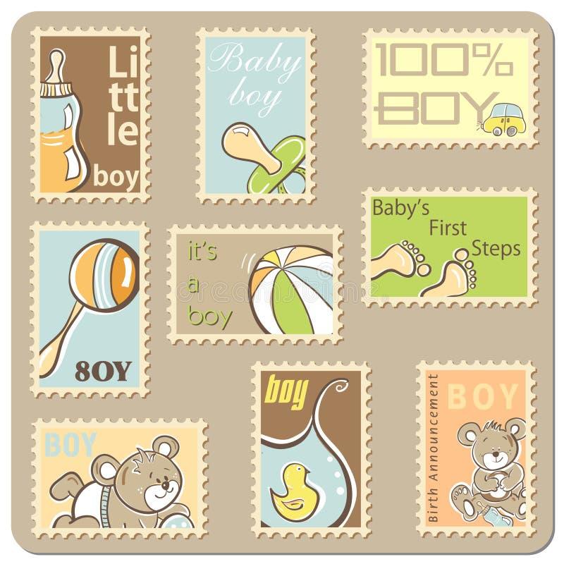 Scheda di annuncio del neonato royalty illustrazione gratis