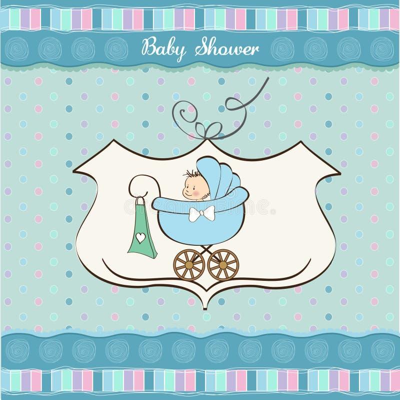 Scheda di annuncio del neonato illustrazione di stock