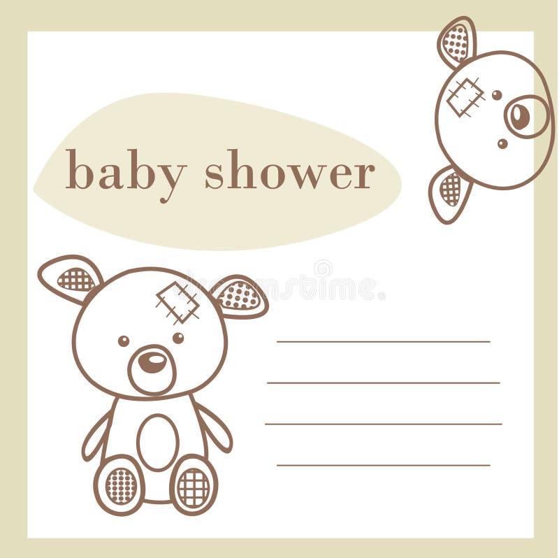 Scheda di annuncio dell'acquazzone di bambino illustrazione di stock