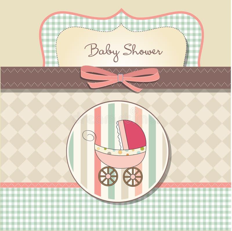 Scheda di annuncio della neonata illustrazione di stock