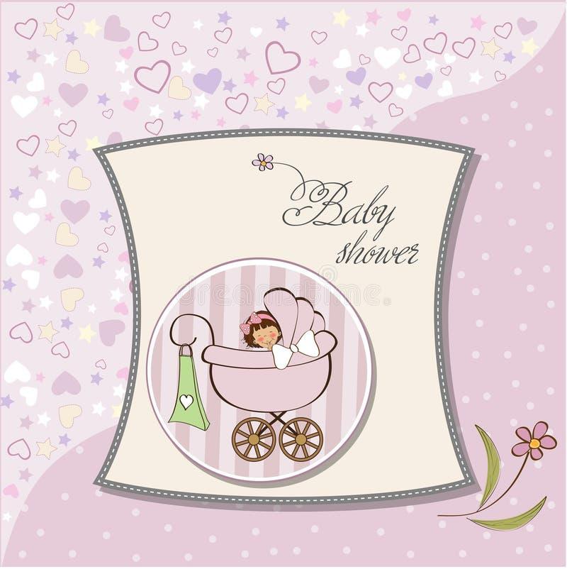 Scheda di annuncio della neonata illustrazione vettoriale