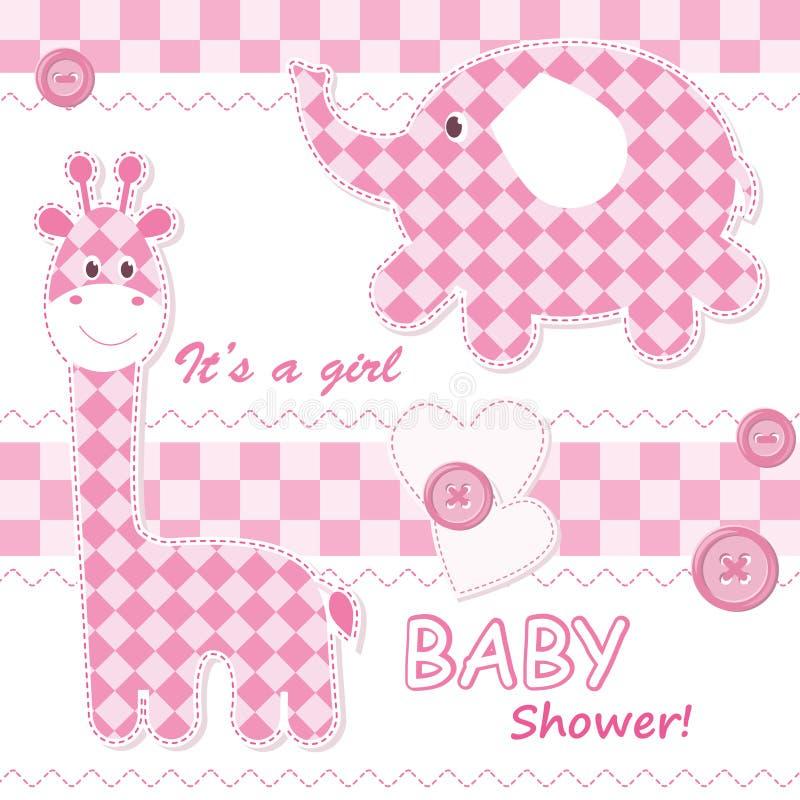 Scheda di annuncio della neonata royalty illustrazione gratis