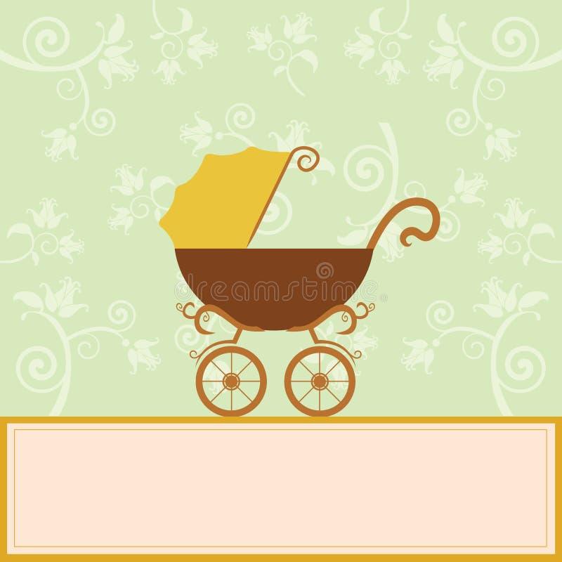 Scheda di annuncio di arrivo del bambino royalty illustrazione gratis