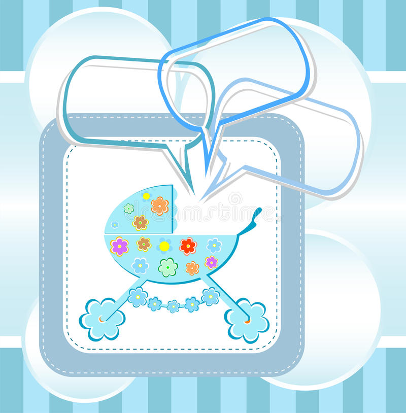 Scheda di annuncio di arrivo del neonato illustrazione di stock