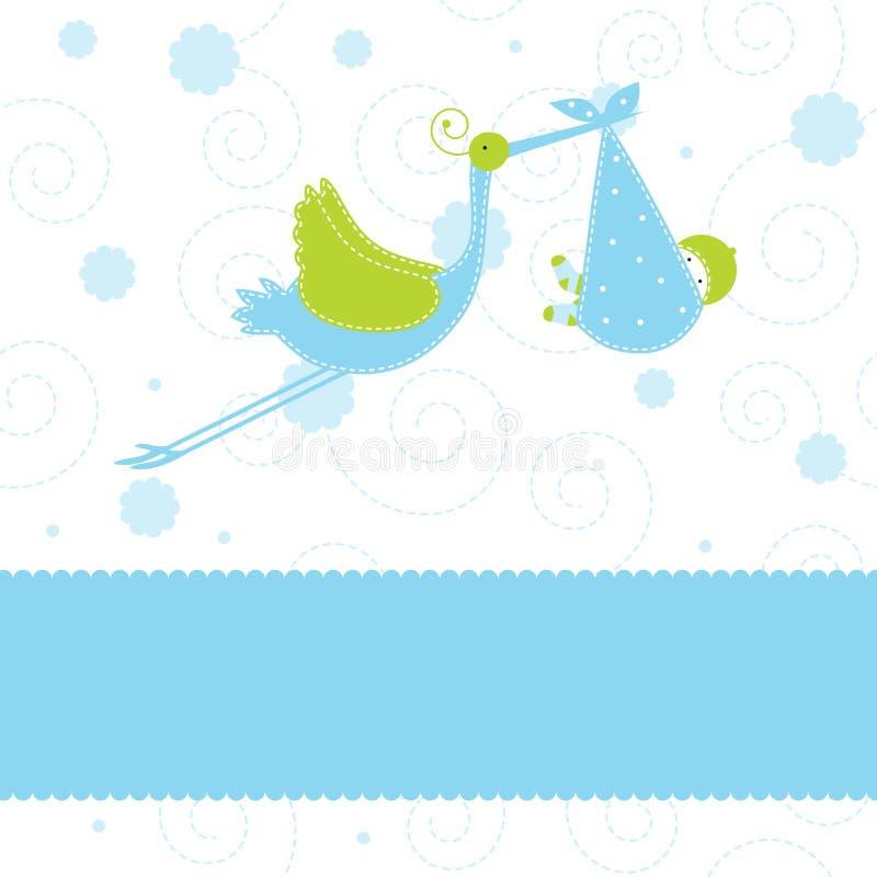 Scheda di annuncio di arrivo del neonato illustrazione vettoriale