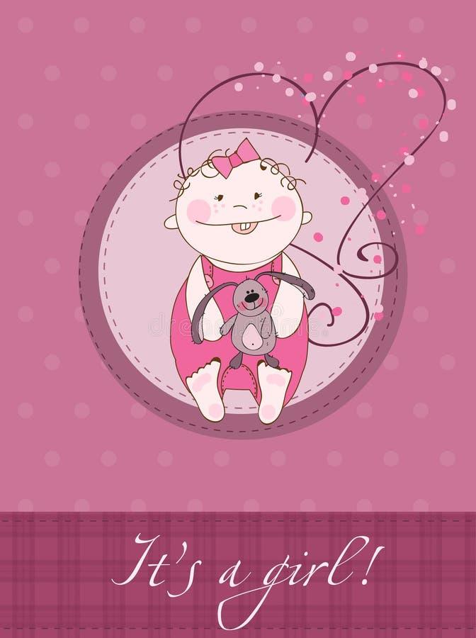 Scheda di annuncio di arrivo della neonata royalty illustrazione gratis